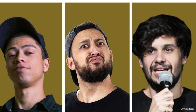 COMÉDIA AO VIVO   Léo Ferreira, Guto Andrade e Luca Mendes trazem mais humor